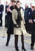 Kate in Katherine Hooker coat, Feb 2011. Via The Telegraph.