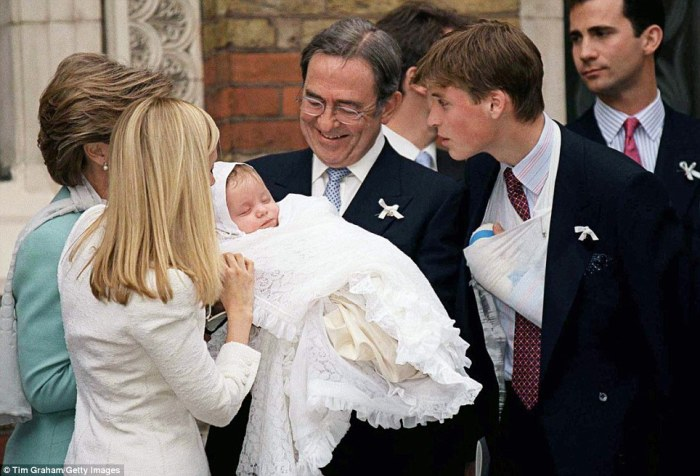 Prince William & his godson (Daily Mail)