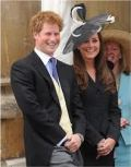 Kate and Prince Harry sharing a joke at the Order of the Garter Ceremony in 2008