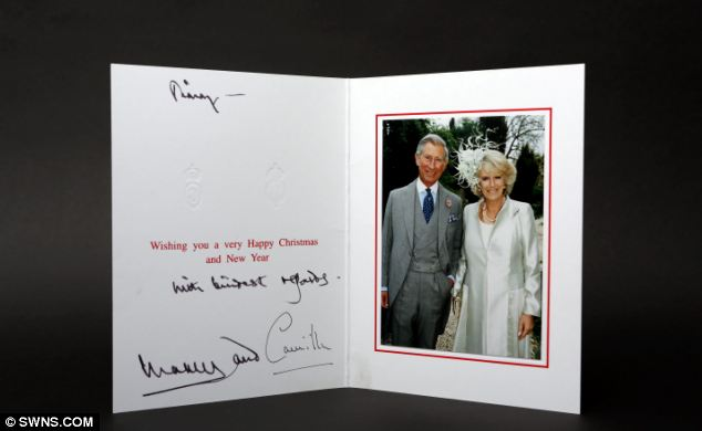 The2006 Christmas Card sent to Jimmy Saville (via Daily Mail)