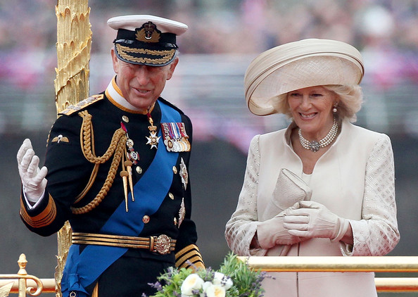 Charles and Camilla celebrating the jubilee (via Zimbio)