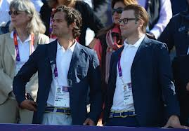 Prince Carl Philip with Prince Daniel at the Olympics