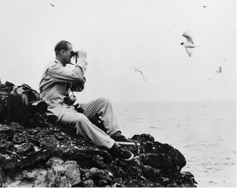 Prince Philip visiting the Galapagos  Islands in 1980. Via Prince Philip Galapagos ALbum Facebook.