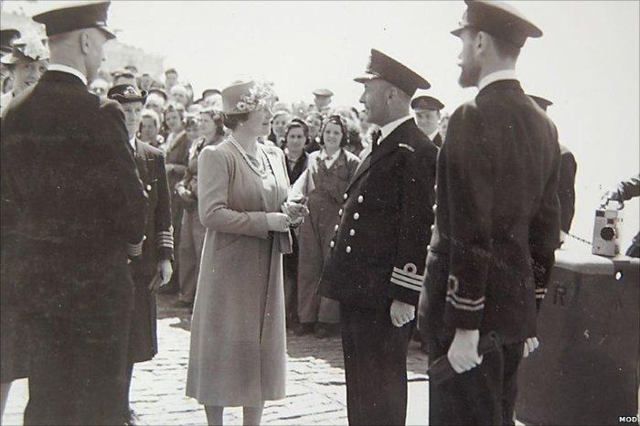 Queen Elizabeth in 1942, via The BBC