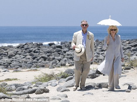 Camilla and Charles in the Galapagos in 2009, via Daily Mail