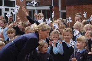 Sophie visiting Kent College