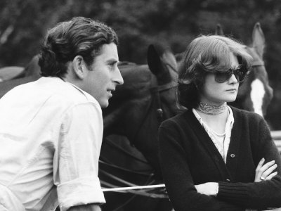 Lady Sarah and Prince Charles in 1977