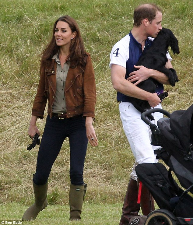 Kate, William, & Lupo via The Daily Mail