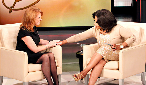 Sarah and Oprah sit down for a chat (via The New York Times)