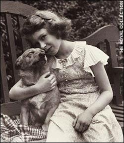 Dookie & Princess Elizabeth in 1936, via The Telegraph