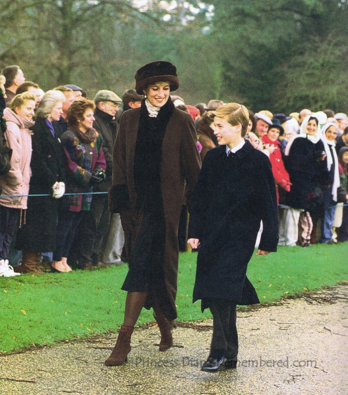 William and Diana on Christmas Day (via Princess Diana Remembered)