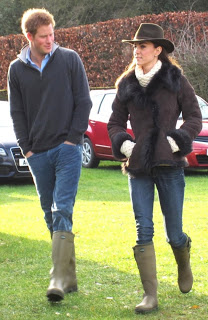 Harry and Kate watch William's football game on Christmas Eve 2011 (via )