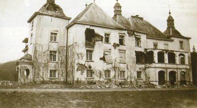 Castle Losange as it was in the winter of 1944 (via )