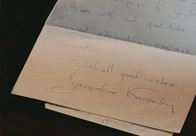 A letter from Jackie to Grace (via