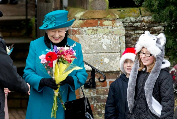 The Queen on Christmas Day 2012 (via Windsor Star)