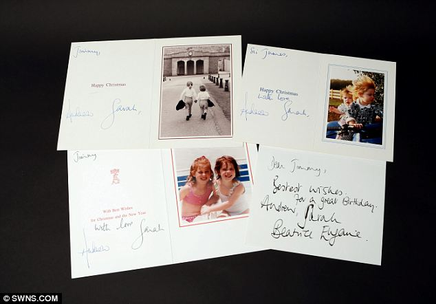 These Cards were sent to Jimmy Saville (via Daily Mail)