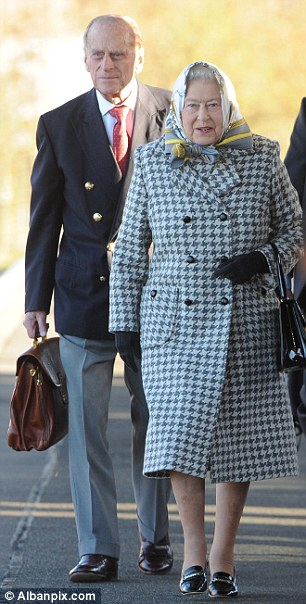 The Queen & Philip at King's Cross Station en route to Sandringham (via Daily Mail)