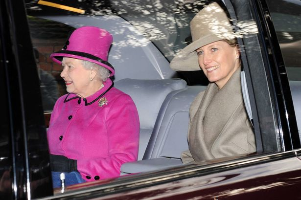 The Queen and Sophie Christmas Day 2012 (via )