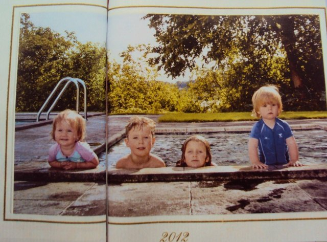 2 Princes and 2 Princesses in the Pool (via Royal Dish)