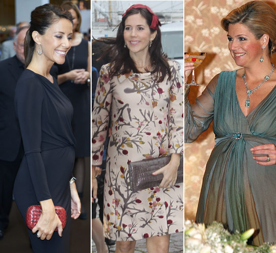 A few royal maternity gowns (via Hello!)