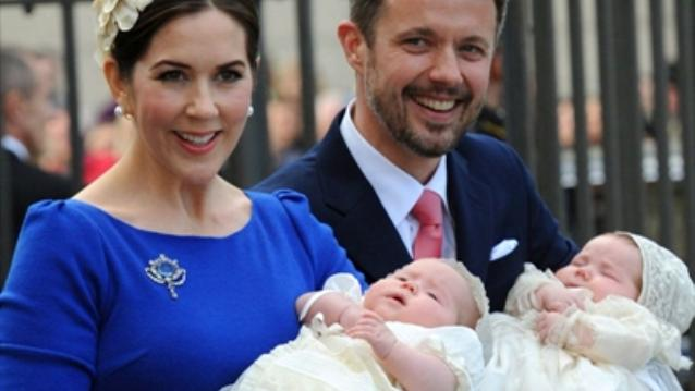 Joesphine & Vincent's christening (via Sky News)