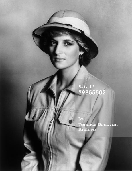 Diana's Out of Africa homage? (Via Getty Images)