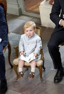 Prince Christian at 20 months old at his sister's christening (via AussieBubbleBlog)