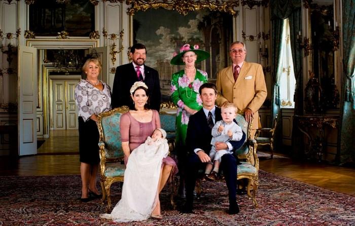 Family Christening Photo