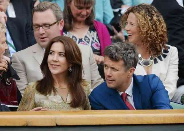 Mary and Frederick at Wimbledon, July 2014 (via Pinterest)