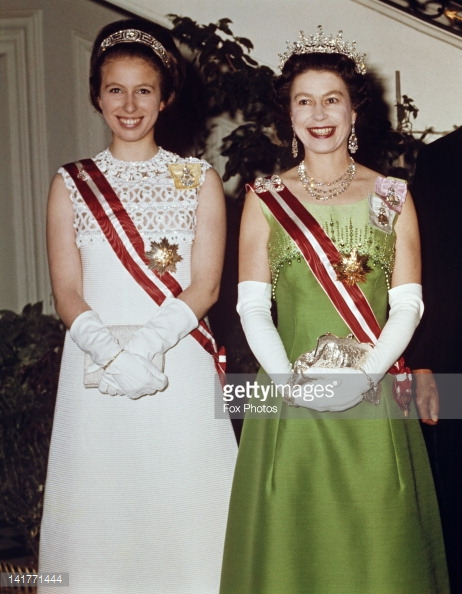 The Queen and Princess Anne at a reception in Vienna (Getty Images)