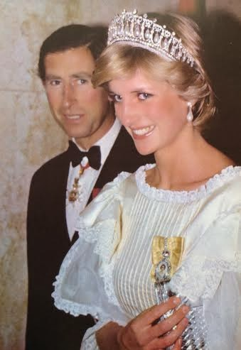 The Princes & Princess of Wales all dolled up on tour in 1983 (source)