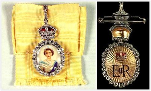The Front and Back of the Royal Family Order (source)