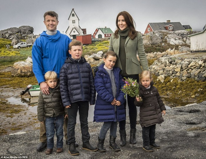 Prince Frederick, Princess Mary and their children on holiday in Greenland