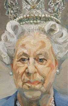 Lucian Freud portrait of Queen Elizabeth II (source; The Royal Collection)