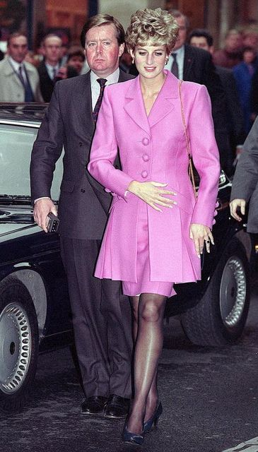 Princess Diana and Ken Wharfe in Paris 1992 (source)